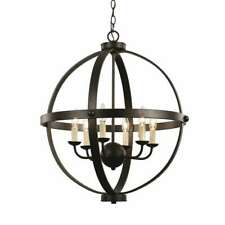Trans Globe Old World Sphere 24' Pendant, Rubbed Oil Bronze - 70596ROB
