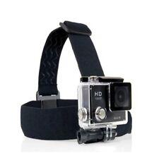 Adjustable Head Strap For GoPro Go Pro Camera 3 Elastic Mount Ski Hat Black