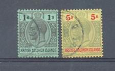 Solomon Is 1914 sg.33 & 36 used
