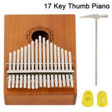 17Key Kalimba Thumb Piano hawaiano legno solido Giocattoli musicali Acacia mini