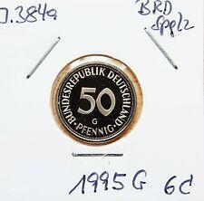 50 Pfennig 1995 G BRD Jäger 384a  Erhaltung Spglz pol. Platte