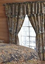 BROWN CAMO CURTAIN CAMOUFLAGE GREEN WOODS 5 PIECE SET VALANCE WINDOW DRAPERY