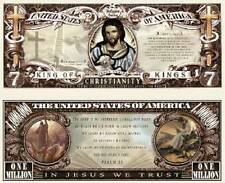 Christianity Million Dollar Bill Collectible Fake Play Funny Money Novelty Note