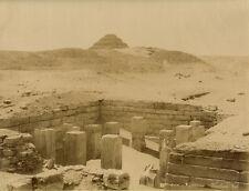 Photo Zangaki Albuminé Egypte Sakkara Tombeau de Titi Vers 1875/80