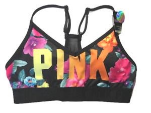 VICTORIAS SECRET PINK ULTIMATE LIGHTLY LINED SPORTS BRA REMOVABLE PADDING NWT