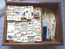 fine antique Mah Jong gamecomplete in teak wood case