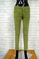 JECKERSON Pantalone Donna Taglia 44 Jeans Pants Woman Hose Casual Costine Verde