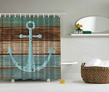 Merveilleux Nautical Anchor Rustic Wood   Shower Curtain   Water, Soap, And Mildew