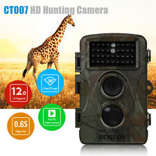 Boblov CT007 12MP HD Hunting Trail Camera PIR IR Night Vision LED Wildlife 940nm
