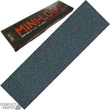 "MINI LOGO Skateboard Griptape Grip Tape Sheet 9"" x 33""  BLACK Non-Slip"