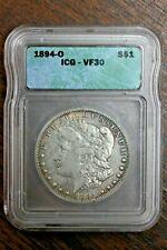 1894-O S$1 Morgan Dollar Silver ICG VF30