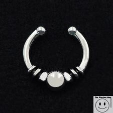 Ball Tribal Retro Fake Septum Nose Clicker Hanger Piercing Ring Clip On Jewelry