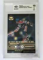 UPPER DECK AUTHENTICATED COMMEMORATIVE WAYNE GRETZKY GRADED 10  CARD DYNAMICS