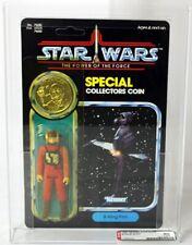 Vintage Star Wars Carded POTF B-Wing Pilot Action Figure AFA 80 Y-NM #15989245