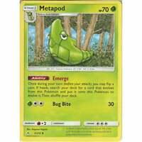 Metapod - 3/214 - Uncommon Card - Pokemon TCG Sun & Moon Unbroken Bonds Cards