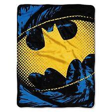 "DC Comics Batman Ripped Shield Micro Super Plush Soft Throw Blanket 46"" x 60''"