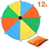 12Feet Kids Play Rainbow Parachute Outdoor Game Development Exercise Sport
