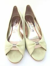 Etienne Aigner Womens Shoes Size 10 DIANA Open Toe Wedge Sandals Slip Ons 8 $150