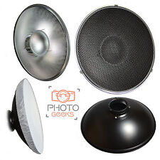 Beauty Dish 56cm Honeycomb Grid & Diffuser - Bowens S Type Fitting- Silver Large