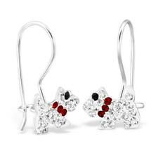 e2888dae2 Sterling Silver Ladies Girls Crystal Scottie Dog Earrings Gift Boxed