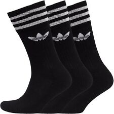 ADIDAS ORIGINALS COOL WICKING CREW SOCKS 5-8 BNWT 3 PAIRS IN PACK RRP £14