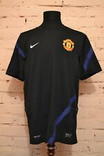 MANCHESTER UNITED TRAINING FOOTBALL SHIRT PLAYER ISSUE SOCCER JERSEY NIKE MENS L