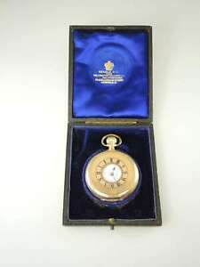 Genuine Rolex gold plated half hunter pocket watch 1915