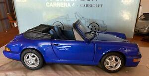 ANSON. Porsche 911 - CARRERA 4 - Cabriolet Die-Cast  Blue 1:14