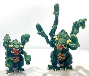 """Trendmasters Godzilla Wars 1995 6"""" & 4"""" Biollante 1995 Electronic Figure Set"""