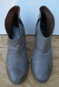 New Look Women's Grey Ankle Zip Up Boots UK Size 6