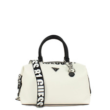 Hand bag with shoulder Strap, Guess Narita SOHO SATCHEL VY766506 White Multi