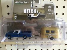 Greenlight  HITCH & TOW  Dodge D100 Pickup  w/ 16' Airstream Bambi Camper