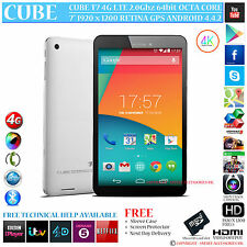 "CUBE T7 4G LTE GPS 2GHz OCTA CORE 16GB 7"" RETINA 4.4 ANDROID PHONE TABLET PC"