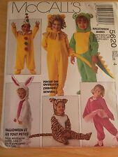 McCalls HALLOWEEN Animal COSTUMES PATTERN 5620 Child 1-4 Sewing