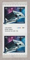 STAR TREK = STARSHIP GALILEO = GUTTER pair, coil/roll stamps MNH Canada 2017