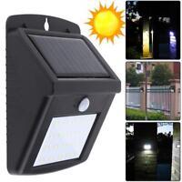 16-30 LED Solar Luz de Pared Impermeable Sensor de Movimiento Lámpara Exterior