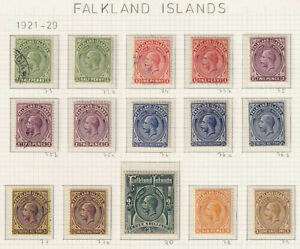 FALKLAND ISLANDS SG 71 - 80 MINT HINGED & USED SET - NO FAULTS VERY FINE! - W113