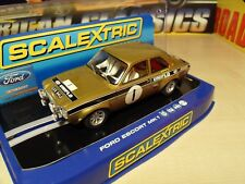 Scalextric C2920 Ford Escort MK1 RS1600 Roger Clark 'Old Gold' - Brand New Boxed