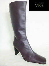 Marks and Spencer Mid-Calf Slim Heel Boots for Women