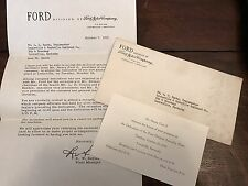 1955 FORD ASSEMBLY PLANT Dedication Invitation L&N Henry Ford II Louisville KY