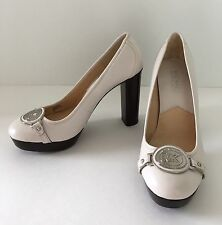 NWOT Michael Kors White Leather Platform High Heel Shoes Pumps 6M
