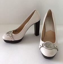 NWOT Michael Kors White Leather Platform High Heel Shoes Pumps 6M