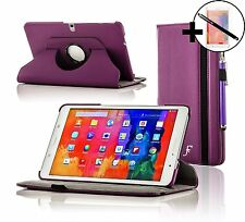 Leather Purple Rotating Case Samsung Galaxy Tab PRO 10.1 + Screen Pro & Stylus