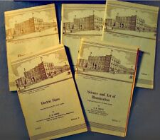 WEITZ electricity manuel - 5 volumes SCRANTON PENNSYLVANIA 1953 Illumination++