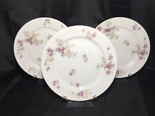 Theodore Haviland Dinner Plates SCHLEIGER 148 Purple Violets - Set of 3