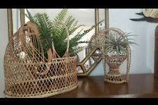 Vintage Wicker Rattan Bohemian Boho Crib Bassinet plant (crib basket only!)