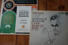 """2LP Lot: Edward R. Murrow """"I Can Hear It Now""""/Remember The Golden Days of Radio"""