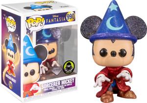 SORCERER MICKEY Glitter 990 Disney FANTASIA Funko Pop Vinyl New in Box