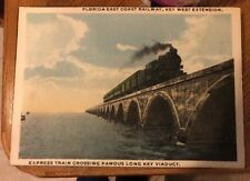 Florida, FL, FL East Coast Railway, Key West Ext, Express Canvas Print Long Key