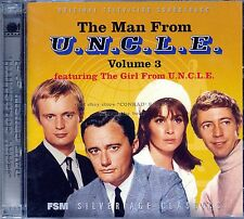 """""""THE MAN FROM U.N.C.L.E"""" Vol.3 score FMS 3000 Ltd 2CD Sealed THE GIRL FROM UNCLE"""